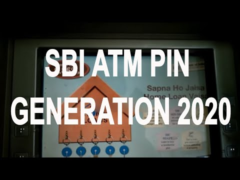 SBI ATM  Pin Generation Through ATM Card .