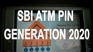 SBI ATM  pin generation through ATM card .