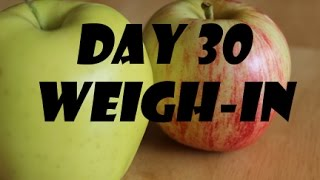 Juice fasting results! 30 days Weight loss cleanse