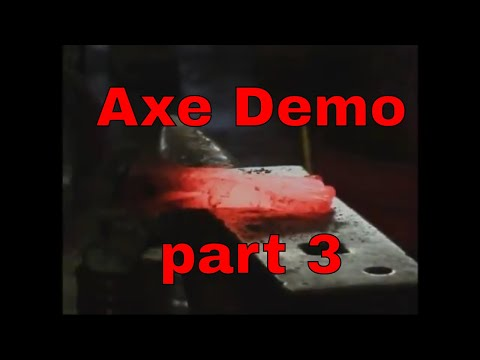 2014 Axe forging demonstration - Rocky Mountain Blacksmithing conference - part 3