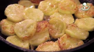 Жареные кабачки со сметаной