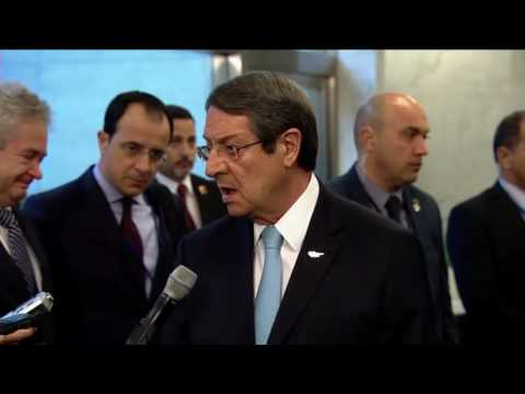 H.E. Mr. Nicos Anastasiades, Greek Cypriot leader on the situation in Cyprus (New York, 7 June 2017)
