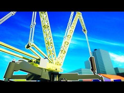 HUGE 700 TON CRANE LIFTS TRUCK FILLED WITH HIGH EXPLOSIVES - Brick Rigs Workshop Creations Gameplay
