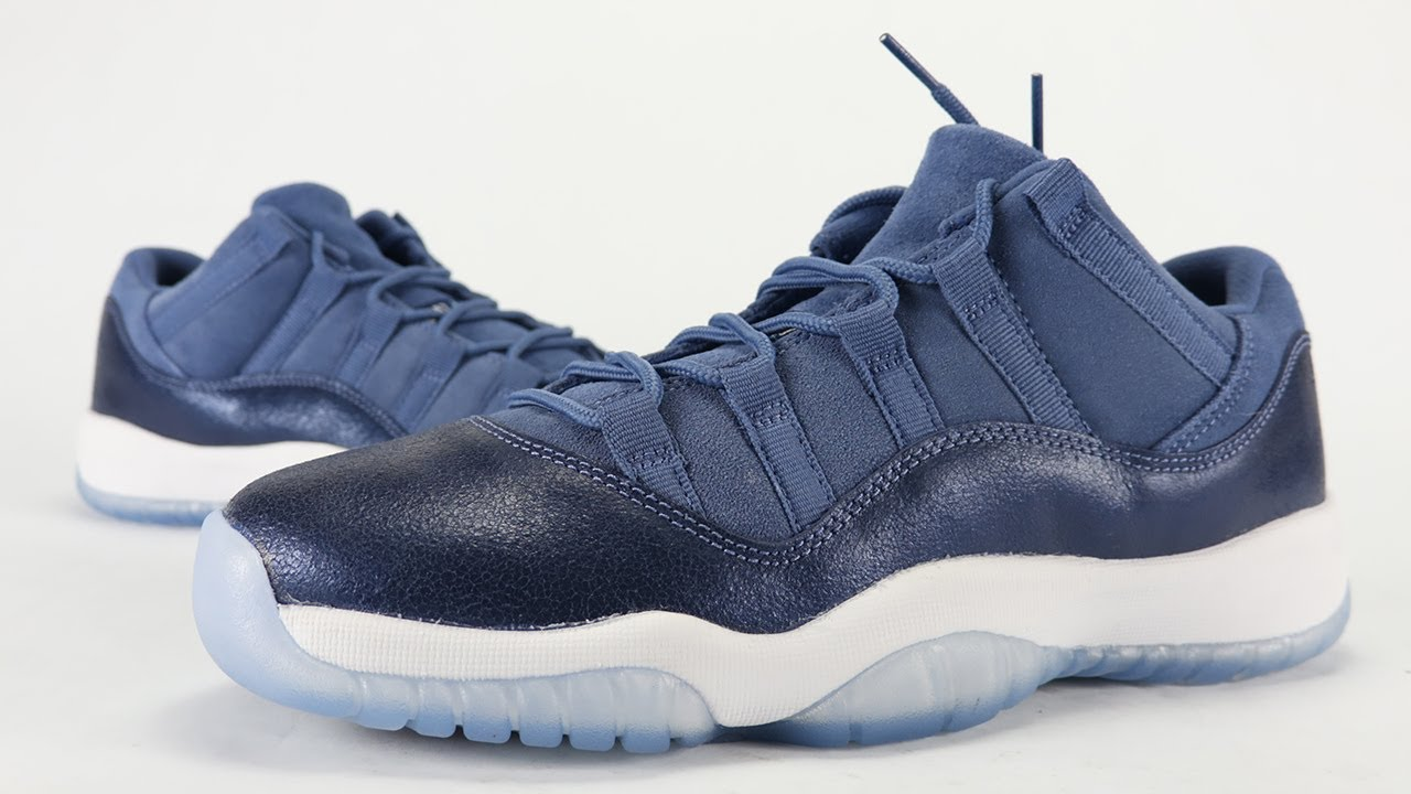 c31627b2ed2 Air Jordan 11 Low Blue Moon Review - YouTube