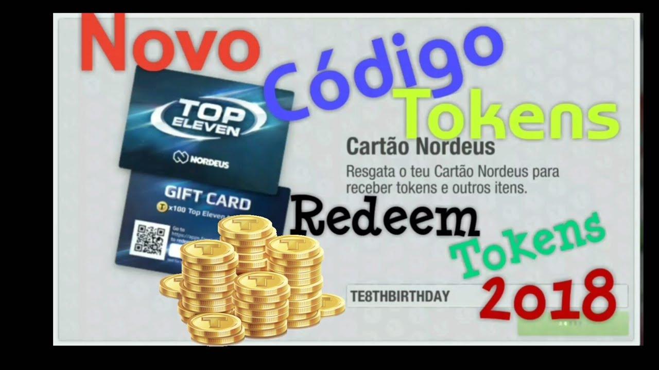 Top Eleven 2018= NOVO CÓDIGO TOKENS( New Redeem Code) 2018 ...