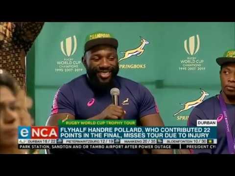 Boks address media in Durban