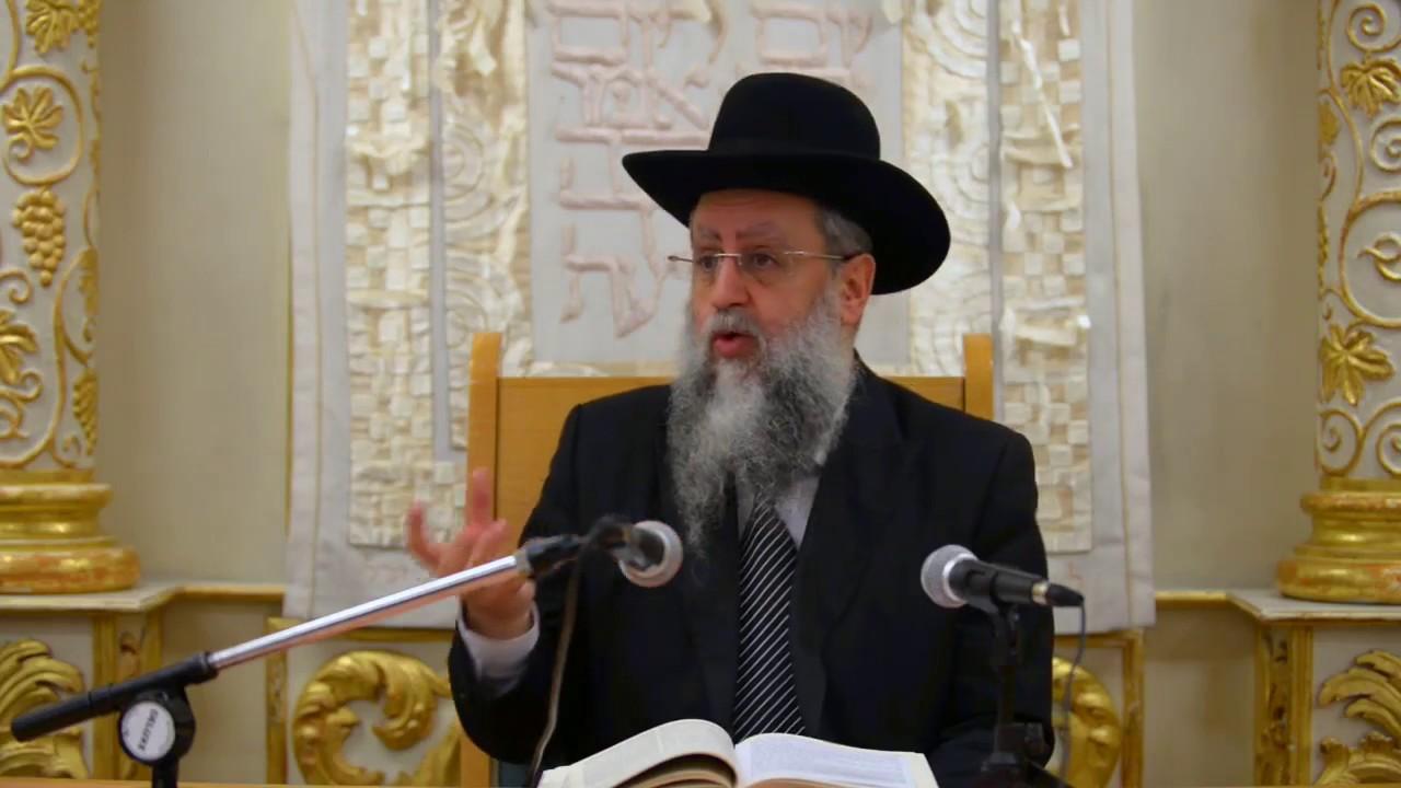 הרב דוד יוסף שליט״א בעל הלכה ברורה שיעור הלכות בין המצרים