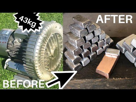 43 KG Motor Meltdown - Huge Copper & Aluminium Haul - ASMR Melting Metal