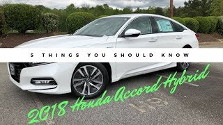 2018 Honda Accord Hybrid | 5 Things You Should Know