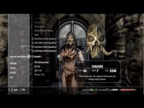 Skyrim - Change Follower Companion Armor Clothes Gear