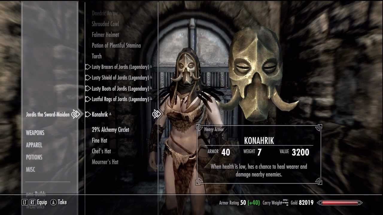 Skyrim - Change Follower Companion Armor Clothes Gear