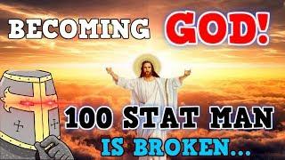 Becoming God In Crusader Kings 2 - 100 Stat Man Immortal God King Reanu Keeves IS BROKEN!