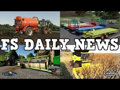 CUSTOM MODDING, 4D MODDING, PLUS MOD UPDATES | FS DAILY NEWS | Farming Simulator 19