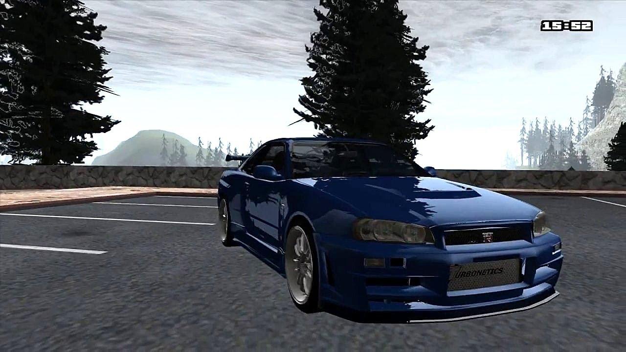 Gta Sa Fast Amp Furious 4 Nissan Skyline Download Youtube