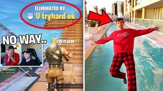 I LOST, so I had to jump in the COLDEST WATER EVER.. (Fortnite Challenge)