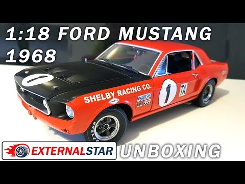 Ford Mustang 1968 1:18 by Greenlight | Unboxing & Review