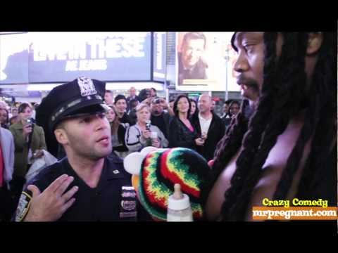 Mr Pregnant Battles Mall Security - NYPD and FBI Agents