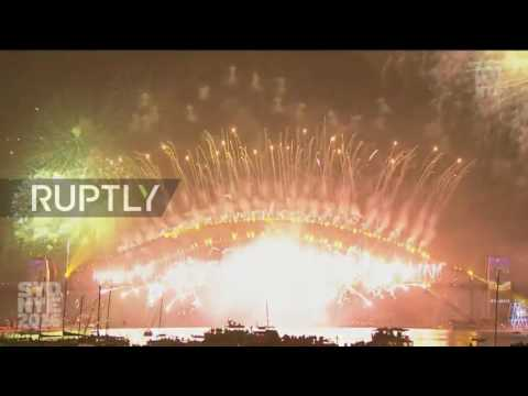 Australia: Sydney's biggest ever fireworks display brings in the New Year