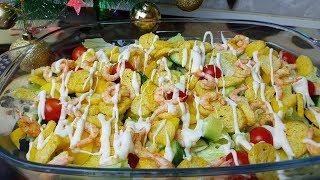 Постный Цезарь с креветками, цыганка готовит. Gipsy cuisine.