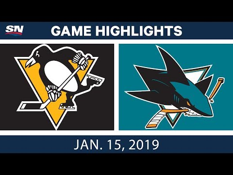 NHL Highlights | Penguins vs. Sharks - Jan. 15, 2019