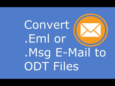 Convert Outlook Msg Or Eml Files To Odt Files