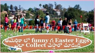 Funny Easter Egg Hunt with the Easter Bunny