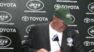 Rex Ryan shows off Hall of Fame blazer