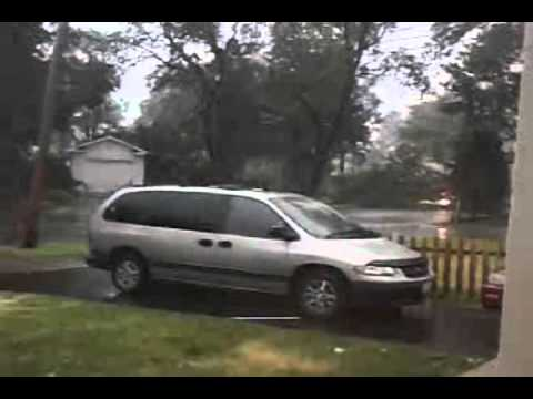 The Waukegan Tornado!!! Amazing footage of the destruction!! Live! (7/11/2011)