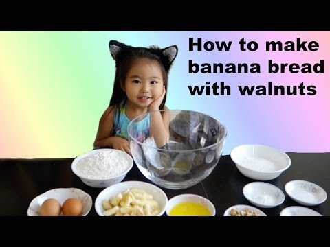 How to make Banana Bread with walnuts~ Cooking With Sophie