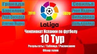 Ла Лига 2019 20 Чемпионат Испании 10 Тур Результаты Таблица Расписание 11 тура