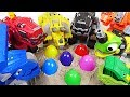 There are eggs in the ground! Dinotrux play a Suprise eggs game! - DuDuPopTOY