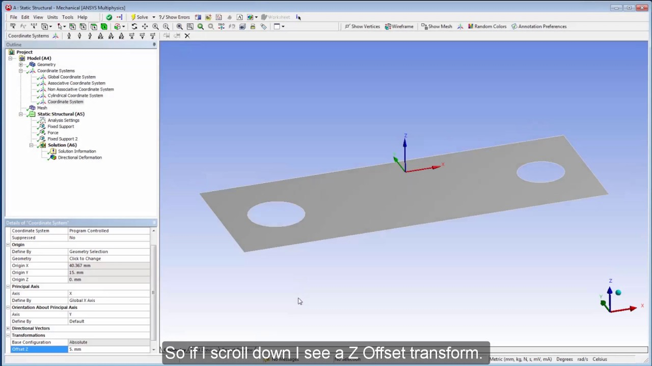 Creating and Managing Coordinate Systems