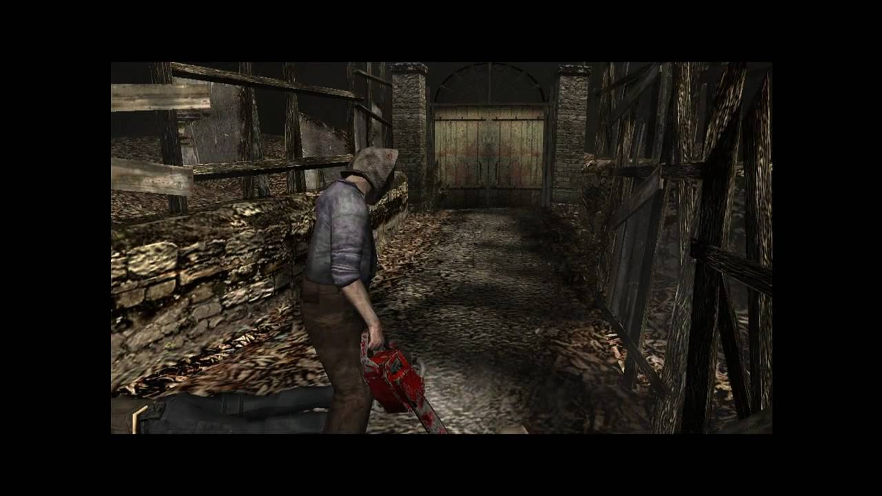 Resident Evil 4 PC Classic Camera Angles Chainsaw Head Cut IN A NUT SHELL