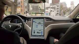 テスラ モデルS 試乗 Tesla ModelS Ride in Tokyo.