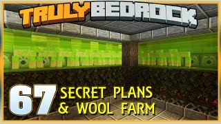 Truly Bedrock S1E67 Secret Plans & Wool Farm | Minecraft Bedrock Edition SMP, MCPE, MCBE