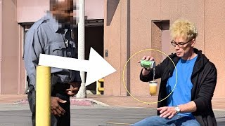 MAGICIAN PRANKS COP with FLOATING BEER!!! - POLICE MAGIC PRANKS 2018