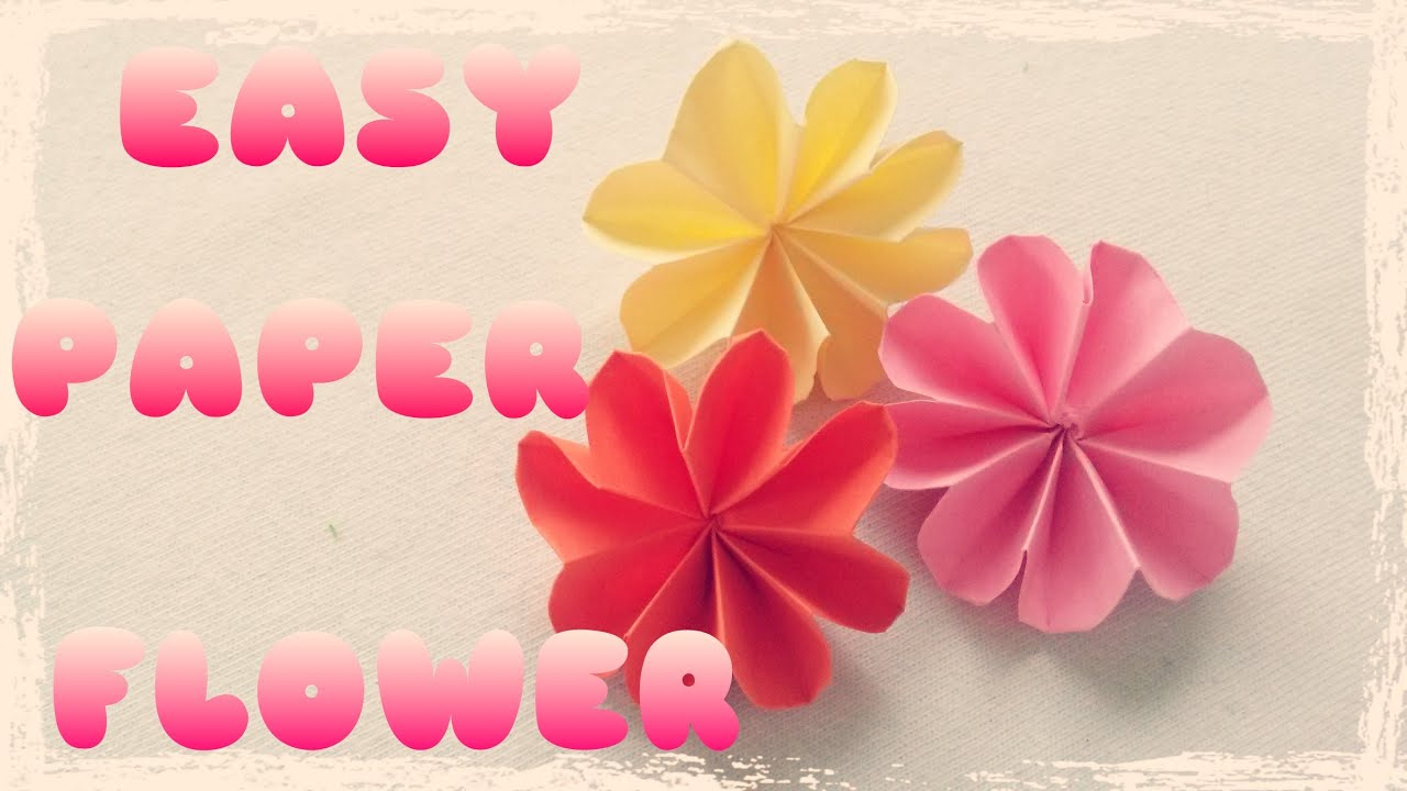 Diy Easy Paper Flower Tutorial Youtube