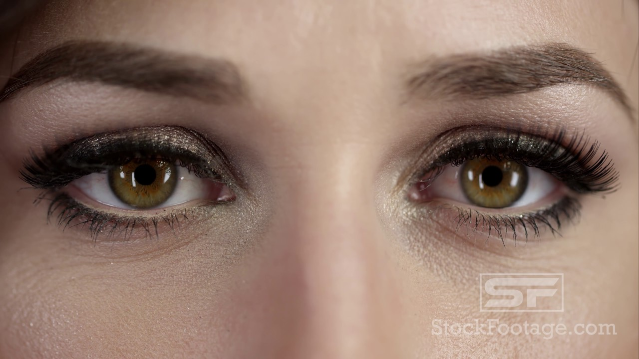 up close view of woman s eyes blinking youtube
