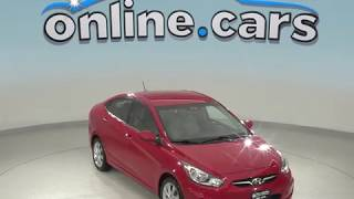 G99012JA Used 2013 Hyundai Accent GLS FWD 4D Sedan Red Test Drive, Review, For Sale