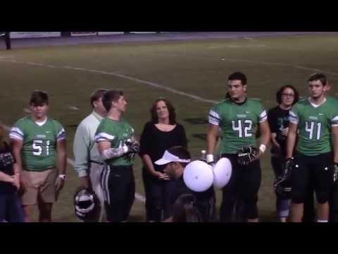 Pickens High School Football Senior Night 2015