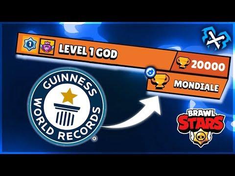😱 RECORD MONDIALE!! LIVELLO 1 RAGGIUNGE Le 20000 COPPE Su BRAWL STARS!!