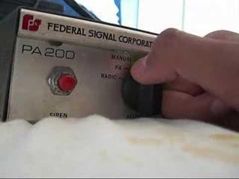 federal signal pa200 siren demo