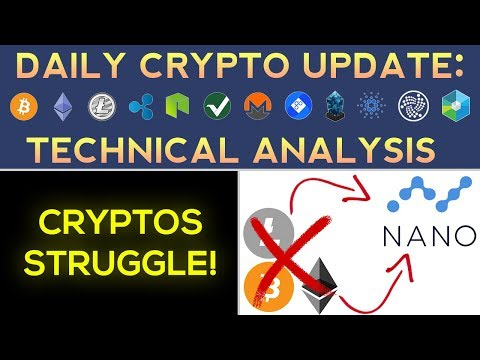 Cryptos STRUGGLE! Nano Outperforms The Rest  Daily Update