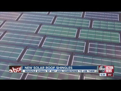 Thumbnail: New solar roof shingles