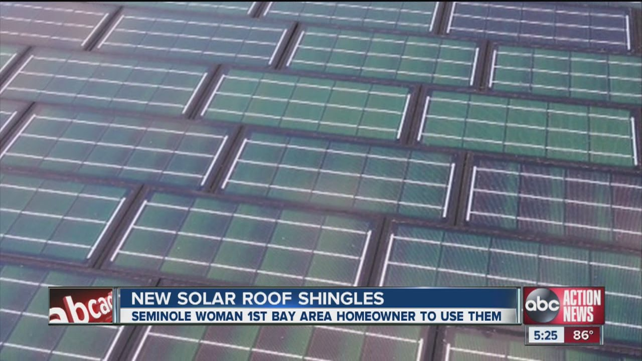 Solar Panel Roof Shingles >> New Solar Roof Shingles Youtube