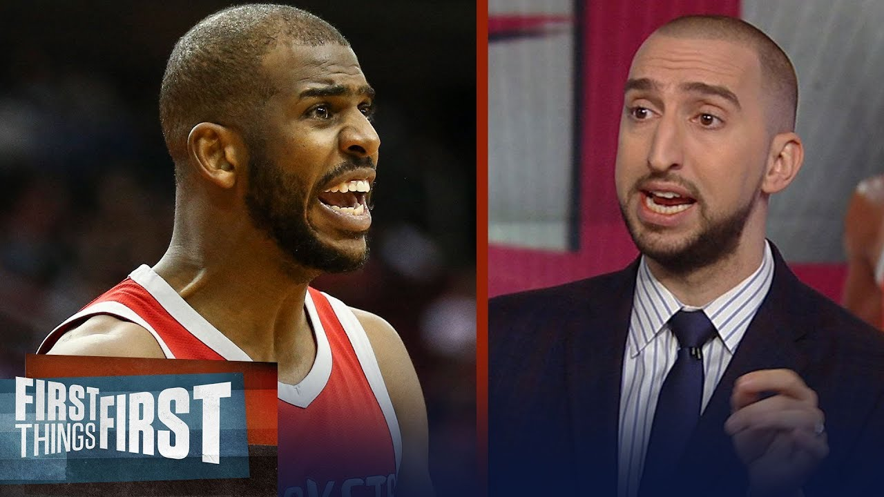Nick Wright's warning if the Houston Rockets sign Chris Paul to max deal | NBA | FIRST THINGS FIRST