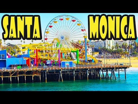 Walking Tour of the SANTA MONICA PIER with NO TOURISTS