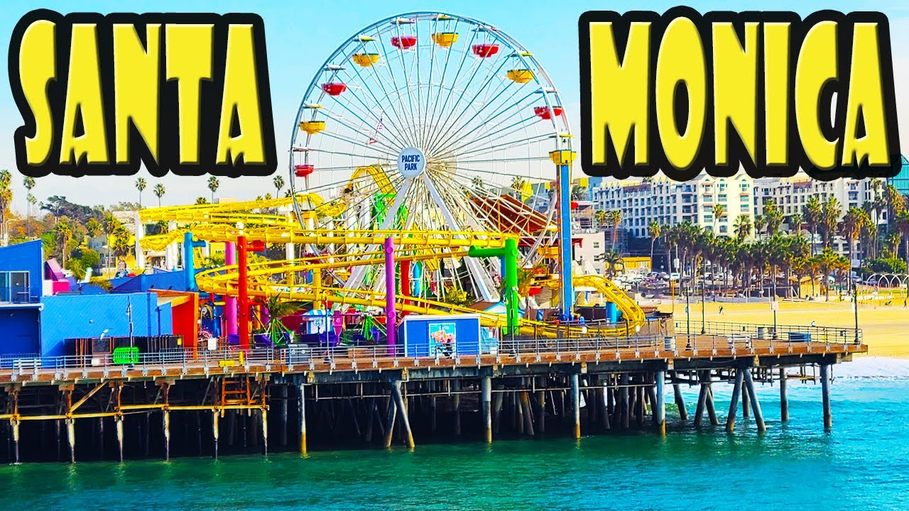 Must See Gorgeous Sunset at Santa Monica Pier in Los Angeles, California (4k video)