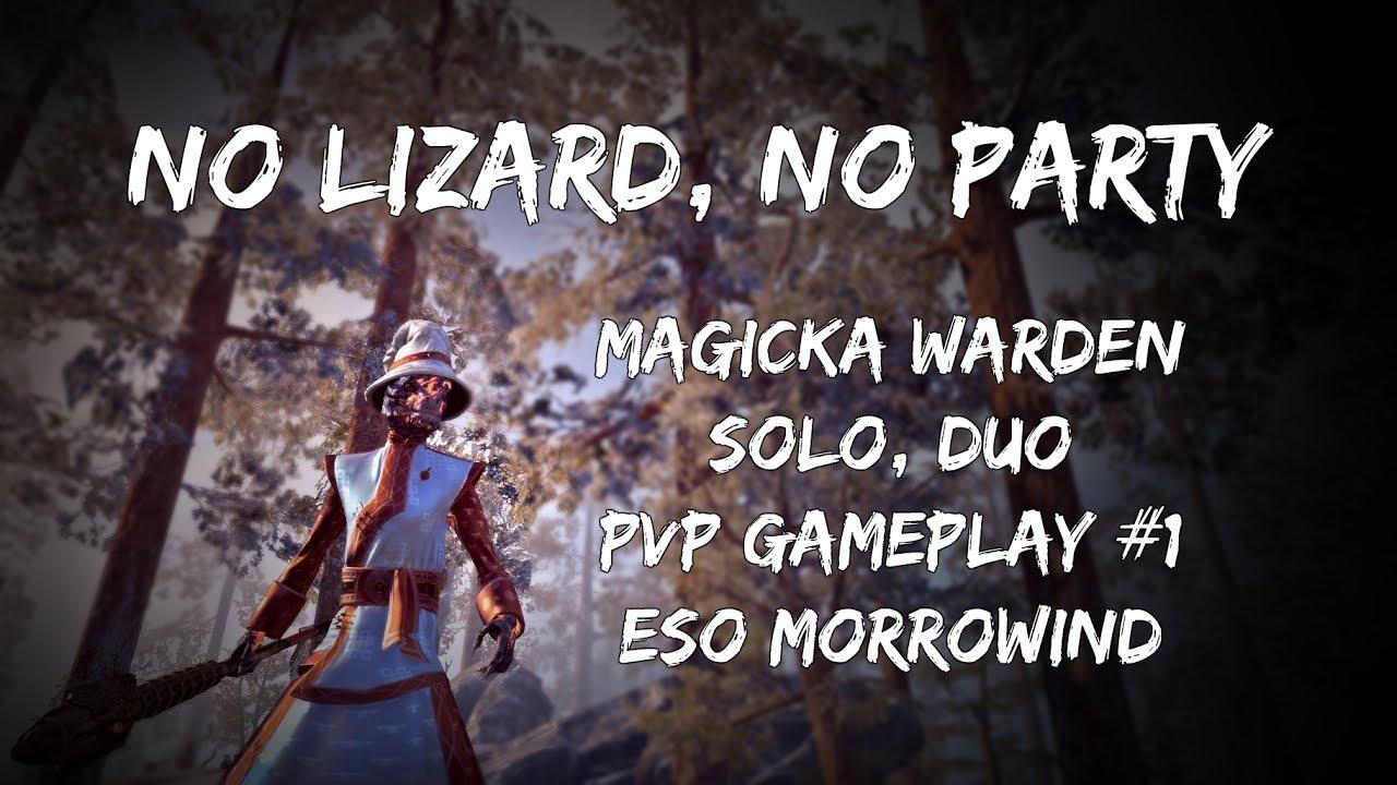 NO LIZARD, NO PARTY | Solo, Duo Magicka Warden PVP Gameplay #1 | ESO