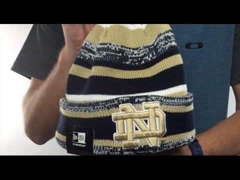 Notre Dame  NCAA-STADIUM  Knit Beanie Hat by New Era - YouTube 3ab083f49447